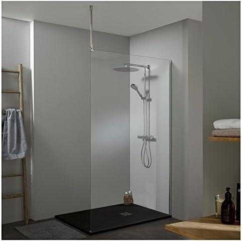 Mampara de ducha Walk In fijo 120 x 200 cm, con fijación techo ...