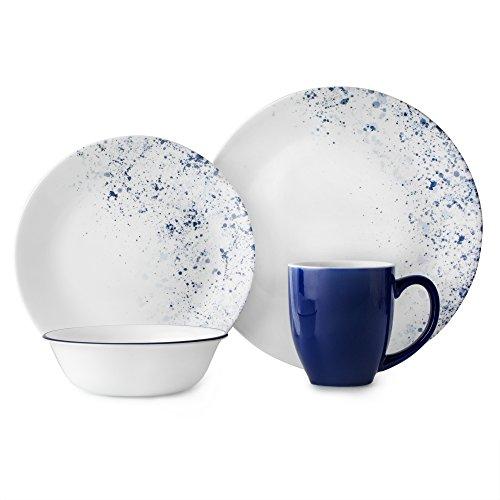 Corelle Dinner Set, Blue, White
