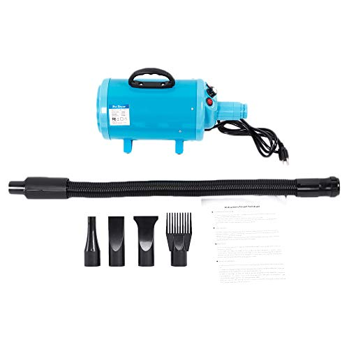 (Wrea STL-1902 120V 2800W Portable Dog Cat Pet Groomming Blow Hair Dryer Quick Draw Hairdryer US Standard)