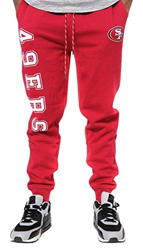 Ultra Game NFL San Francisco 49ers Men's Active Basic Fleece Jogger Sweatpants, Team Color, X-Large