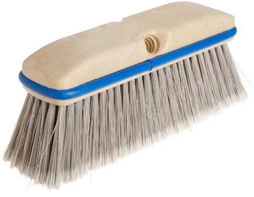 Vehicle Washing Brushes - 10'' fountain brush silver flag plastic