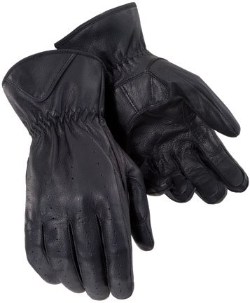 Tour Master Select Summer Womens Leather Street Bike Racing Motorcycle Gloves - Black / Medium