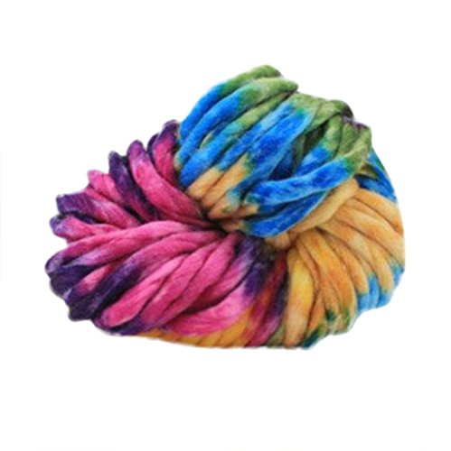 Iuhan 250g Worsted Super Soft Smooth Natural Silk Wool Yarn Knitting Sweater Knitting Yarn (J)