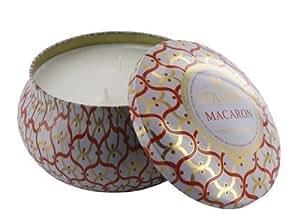 "Voluspa Maison Blanc vela perfumada en lata decorativa ""Macaron"" 2 mechas"