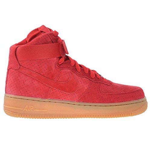Nike Air Force 1 Hi Scarpe Da Donna In Camoscio Rosso Università 749266-601