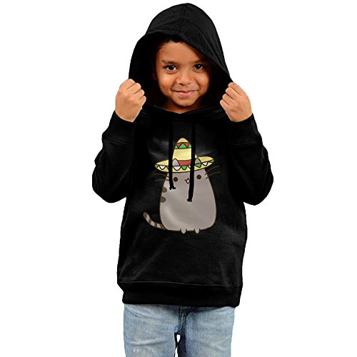 2016 Mexican Pusheen Sweatshirt Black Pullover Hoodie For Your (Mexico 66 Dress)