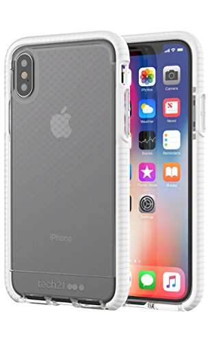 tech21 - Phone Case Compatible with Apple iPhone X/Xs - Evo Check - Clear/White