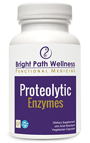 Proteolytic Enzymes - 100 Vegetable Capsules   Systemic Enzyme Formula   Inflammation Support   Anti-Inflammatory   Non-GMO, Gluten Free, Soy Free