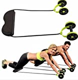 Abdominal Wheel Resistance Pull Rope Intensity Adjustable Muscle Fitness Equipment by Greenmarkets
