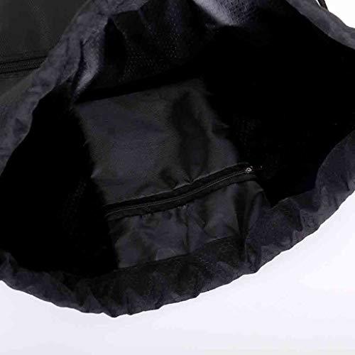 De Luoluoluo Sac Unisexe À Résistant Kit Plage Gym Eau Cordon Noir Dos Imperméable Sport wrIxfr
