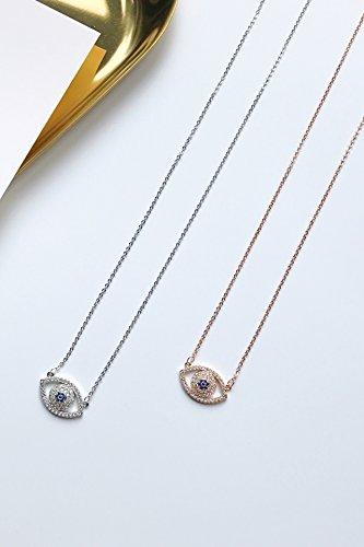 Generic Korean_personality_evil's_eye_micro-Insert_Zircon_ necklace pendant women girls short _paragraph_Eye_ necklace pendant _collarbone_ chain _quality versatile_ pendant necklace ()