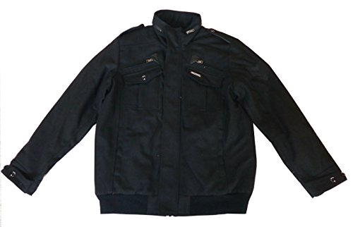 - Rocawear Men's Wool Blend Jacket Black X-Large