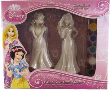 Disney Princess Paint Your Own Statue - Rapunzel and Snow White (Princess Statue)