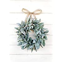 Mini Wreath, Small Wreath, Window Wreath, Farmhouse Wreath, Lambs Ear Wreath, Farmhouse Decor, Spring Wreath, Summer Wreath, Holiday Wreath, Gift, Housewarming Gift, Wall Hanging