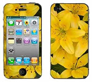 Yellow Lilly Skin for Apple iPhone 4 4G 4th Generation