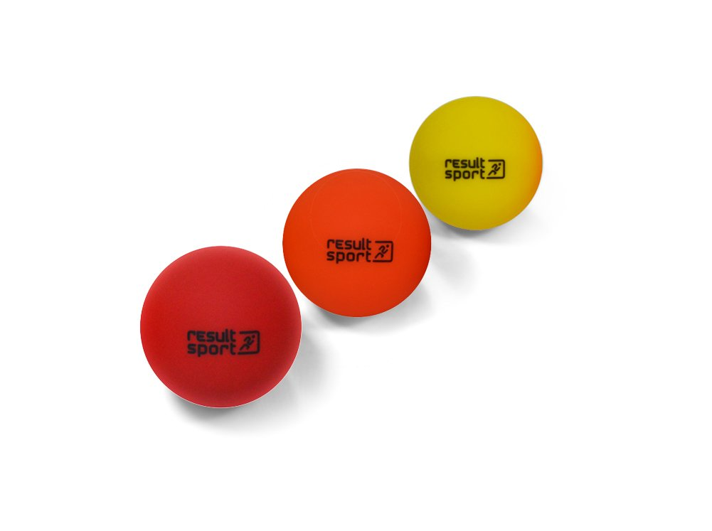 ResultSport Trigger Point Massage Ball Set Pack of 3 (Soft/Medium/Hard) - Stress Reflexology, Myofasical Ball, Exercise Ball, Lacrosse Ball TPMB3