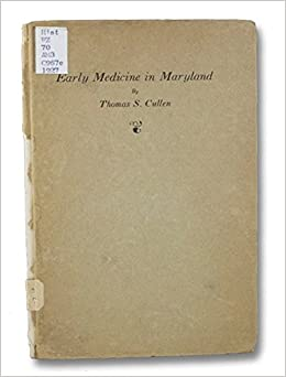 Early Medicine in Maryland