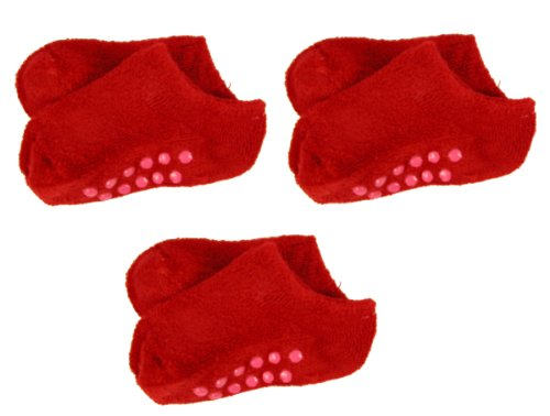 rsg-baby-toddler-kids-low-cut-terry-non-skid-slipper-socks-3-pack-all-red-2-4-yr