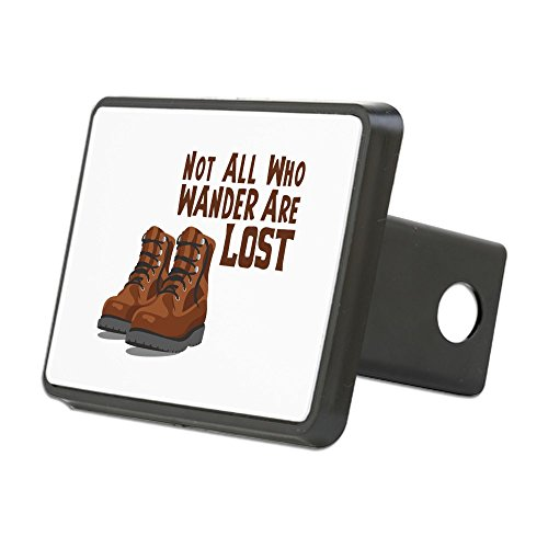 CafePress - Not All Who Wander are Lost Hitch Cover - Trailer Hitch Cover, Truck Receiver Hitch Plug Insert