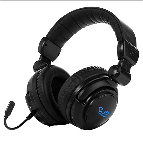 HUHD 2.4Ghz Optical Wireless Gaming Headset Stereo Sound for PS4, PS3, Xbox 360 and PC Detachable Microphone Noise Cancelling