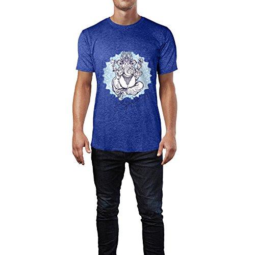 SINUS ART® Indischer Elefantengott Ganesha, Patron der Künstler Herren T- Shirts in Vintage ...