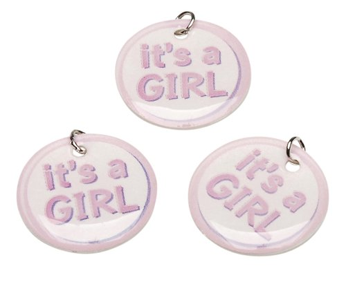 Darice It's a Girl Charm Circles, 12-Piece