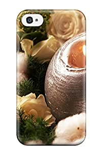 High Quality Patricia Kelly Holiday Christmas Skin Case Cover Specially Designed For Iphone - 4/4s