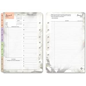 Franklin Covey Blooms Dated Daily Planner Refill, January-December, 5 1/2 x 8 1/2, 2018 - 35444