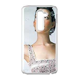 High Quality Durable Protection Case For LG G2, Anne Hathaway American Female Les Miserables The Devil Wears Prada The Princess Diaries(White)
