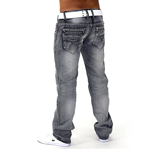 Jeans Gris Hommes Finder ID1044 (jambe droite)