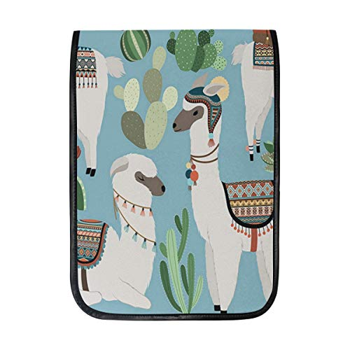 Ipad Pro 12-12.9 inch Sleeve Case Bag for Surface Pro Cactus and Llama Clipart Mac Protective Carrying Cover Handbag for 11