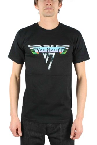 Van Halen 1978 Vintage Logo Men's Black T-Shirt, Large -