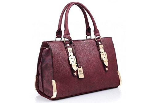 Deep Red Women's Fashion Handbag