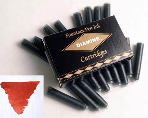 Diamine Refills Monaco Red Pack of 18 Fountain Pen Cartridge - (Monaco Fountain)