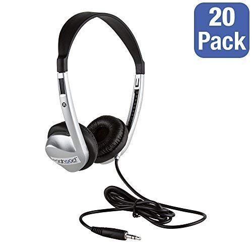 Stereo School Headphone W/Leatherette Ear Cushion (Pack of 20)