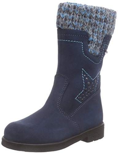 Däumling Andrea RV - Alia Mädchen Langschaft Stiefel Blau (46Turino tiefsee)
