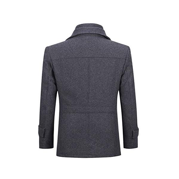 Allthemen Manteau Homme en Laine Chaud Court Epais Slim Fit Business avec Un Col Accessoire Jacket Hiver Trench-Coat…