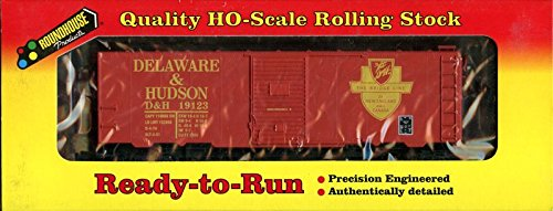 Roundhouse 1:87 HO Scale Ready-to-Run 40' AAR Box Car Delaware Hudson #20405 ()