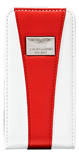 Aston Martin Racing Etui flip pour iPhone 5/5S Blanc/Rouge