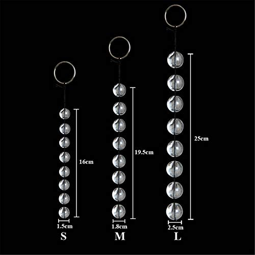 3 Sizes Anal Beads Vaginal Balls Transparancy Glass Anal Sex Toys Chain Bead Sex Game Products L