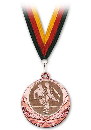 S.b.j-sportland m/édaille de football bronze avec bande