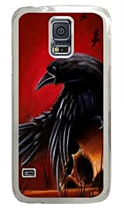 Crow Art Polycarbonate Hard Case Cover for Samsung S5/Samsung Galaxy S5 Transparent