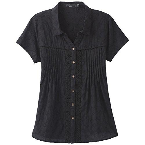 Crinkle Camp Shirt (prAna Katya Top, Black, Large)