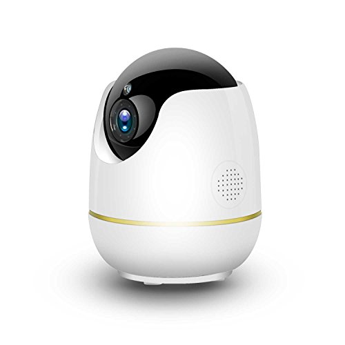 Home Security Camera – HD 1080P WiFi IP Dome Camera, Compatible with Alexa Show, Pan/Tilt and 4xZoom for Baby/Store/Office/Pet/Elder Minitoring, Free App with No Monthly Fee(Plug-in Required)