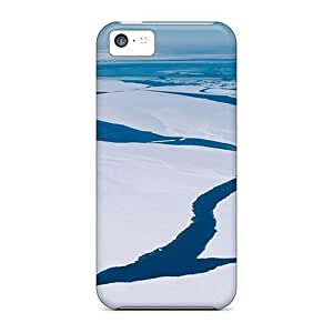 Case For The For Iphone 5C Case CoverEco-friendly Retail Packaging(cold Cracked Ice)