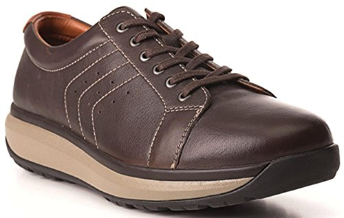 Joya Mens Caesar Leather Shoes Marrone