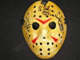 3X Jason Voorhees Actors Signed JASON MASK KANE HODDER CJ GRAHAM WARRINGTON GILLETTE Friday the 13th