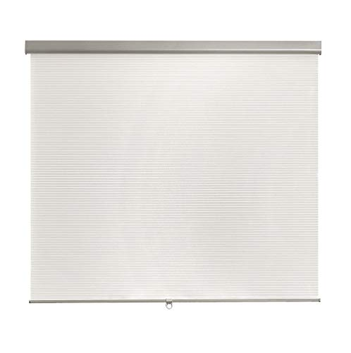 Brielle Pleated Semi Sheer Cordless Roller Shade, 35 x 66, White