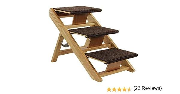 SwissPet Perros Escaleras / rampa de perro Senti, es escaleras de 3 niveles para Perros, de Madera, Dimensiones: 60x34x40cm: Amazon.es: Electrónica
