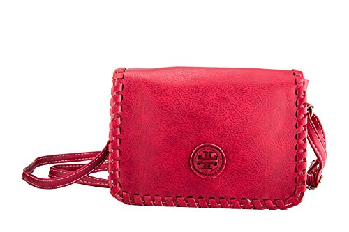 Fashion Mini Bag Ladies & Girls Messenger Bag Crossbody Shoulder Purse (Wine Red)